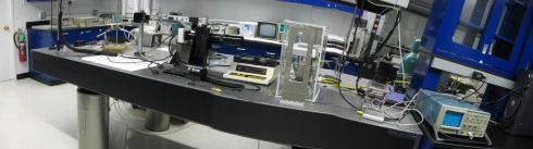 Electrohydrodynamic printing bench in G104B Laboratory