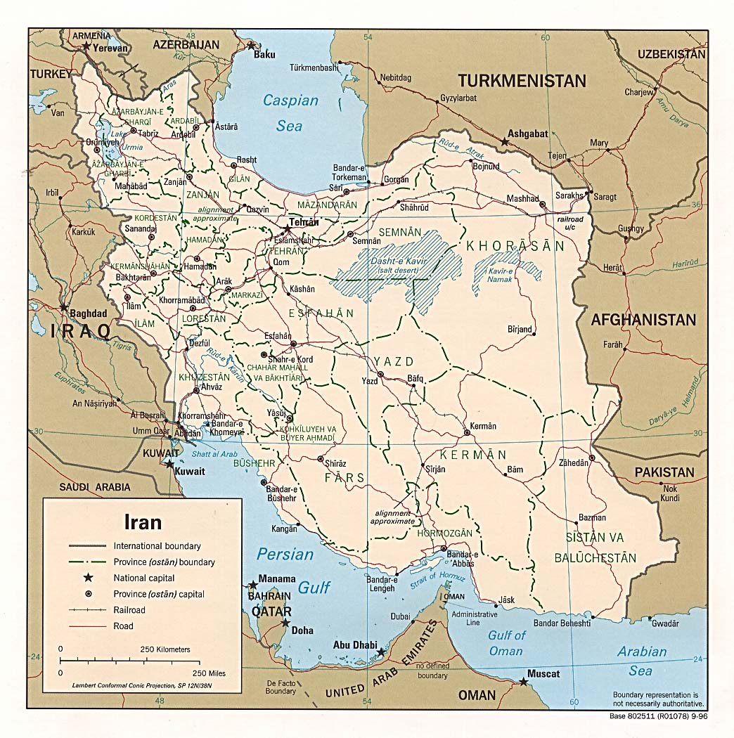 Maps: Modern Iran