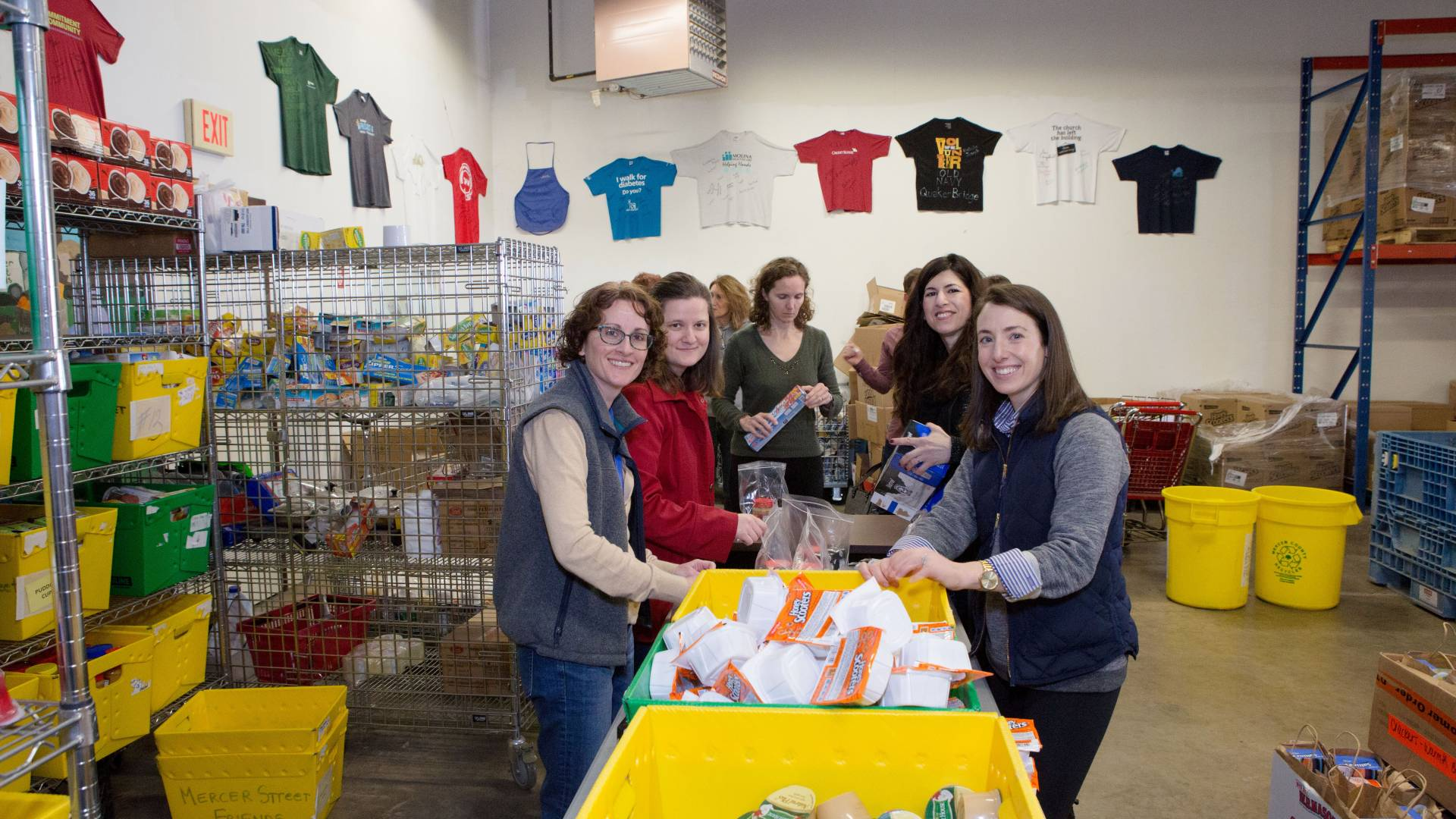 Princeton staff members volunteer at a local pantry.