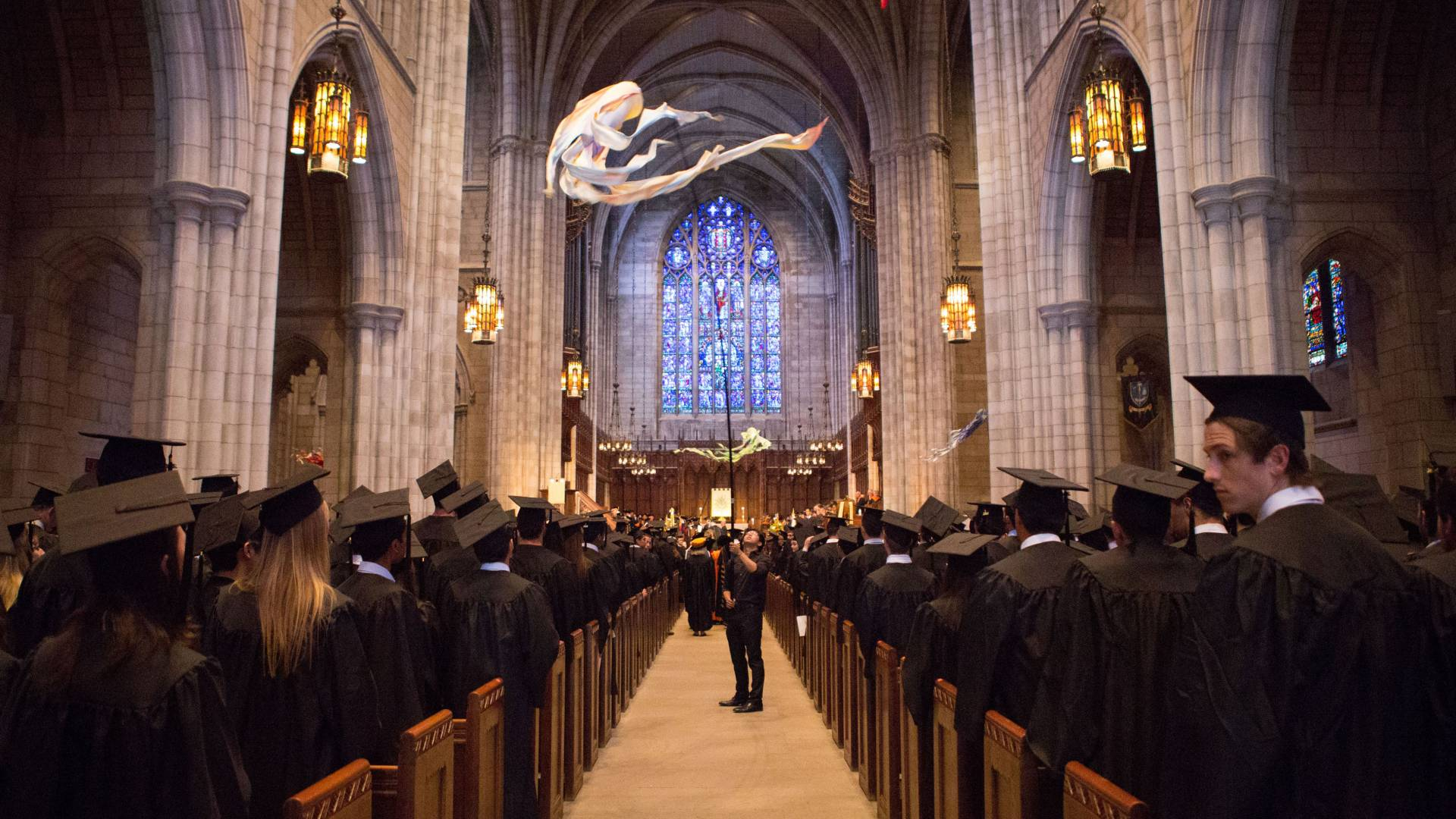 Interior of University Chapel during Baccalaureate ceremony