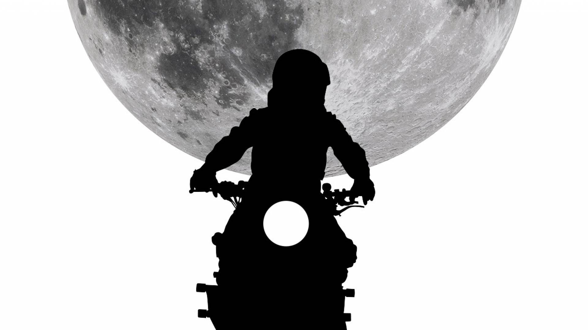 Motorbike and moon
