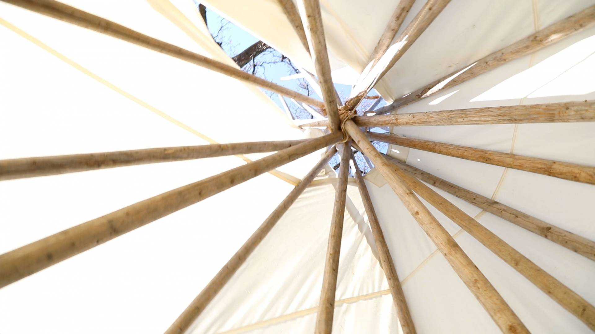 interior of tipi
