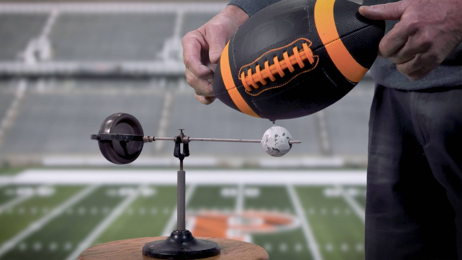 Gyroscope and football