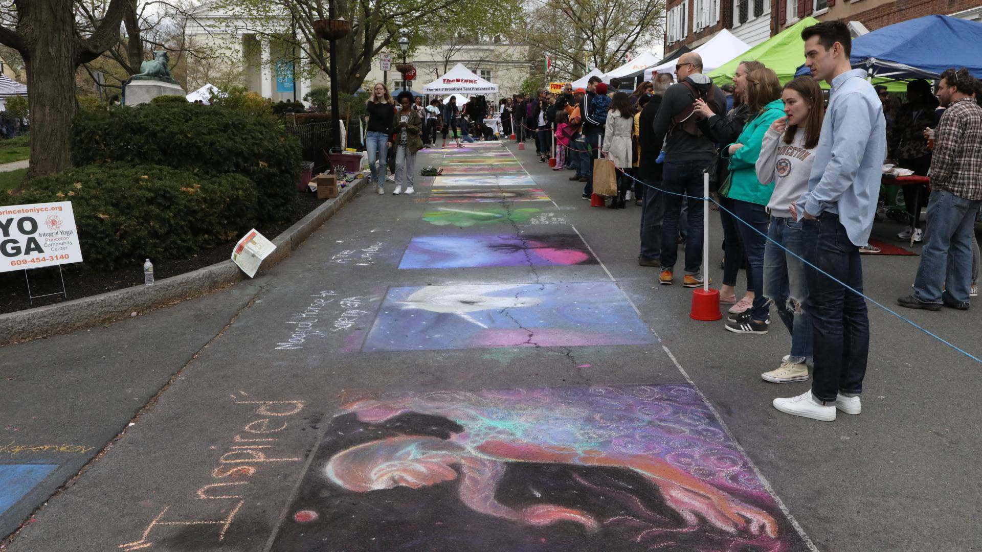 Chalk art on street during Communiversity