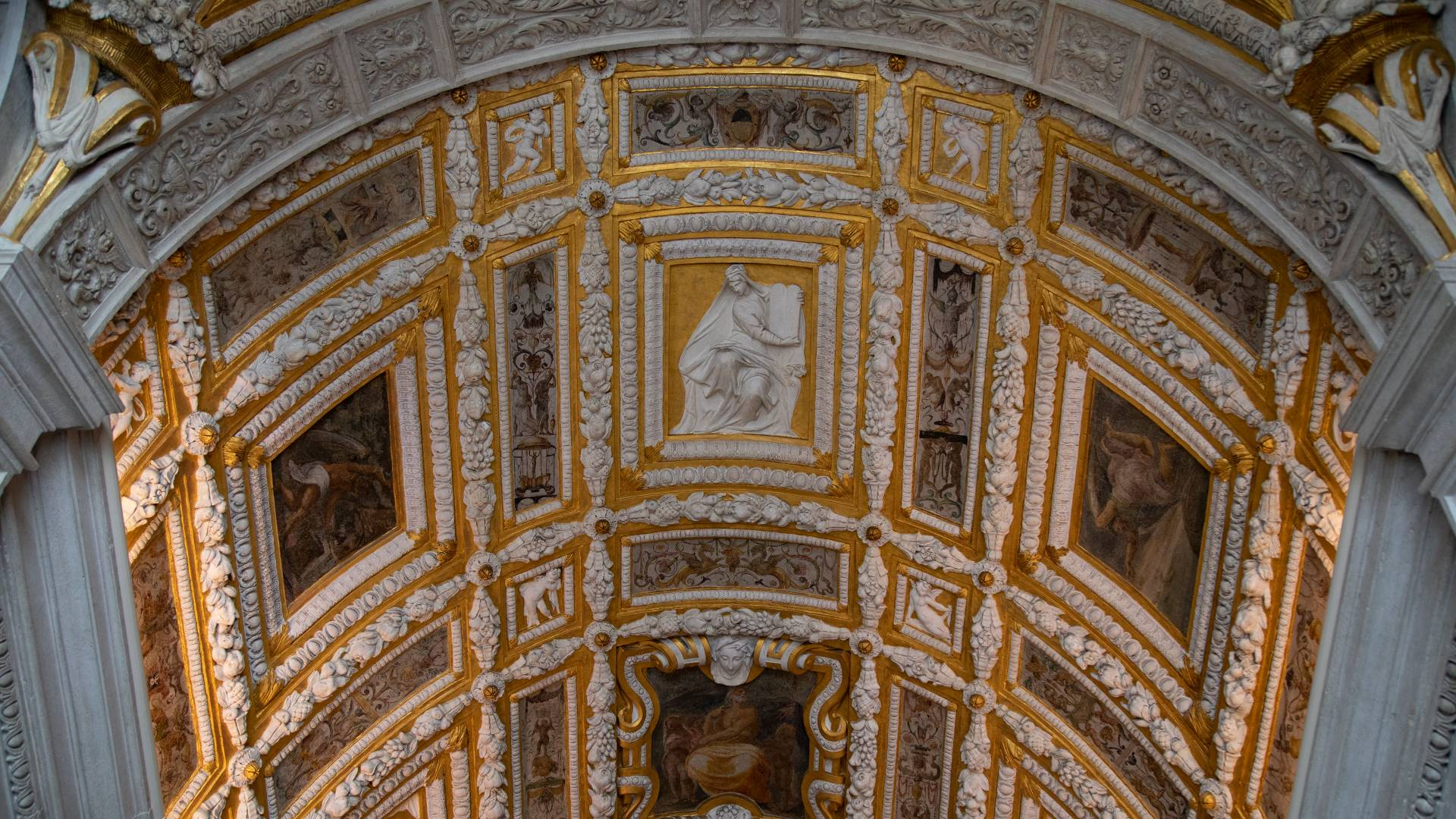 Detail of ceiling in the Doge's Palace in Venice