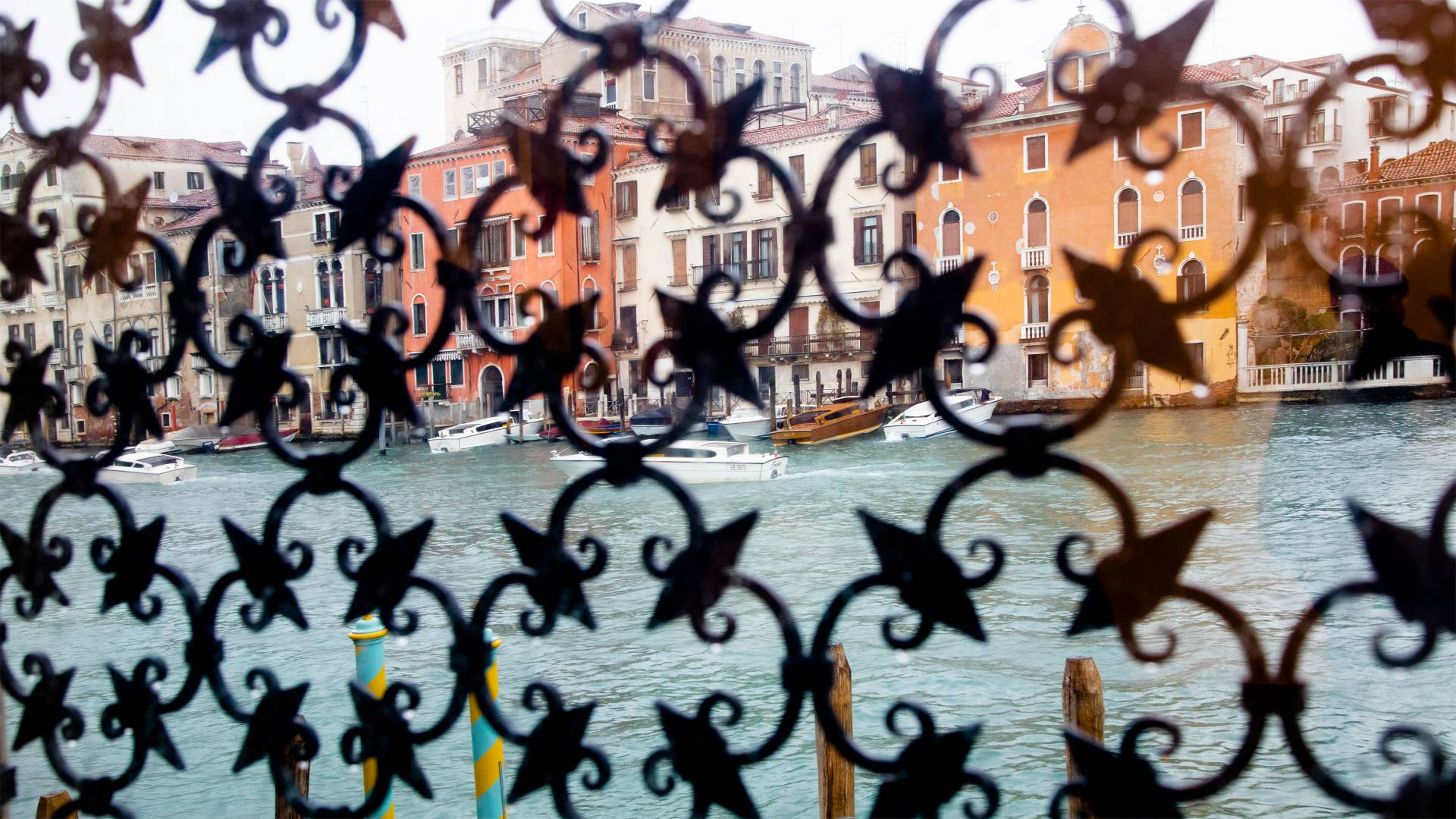 View of canal from Peggy Guggenheim Collection in Venice