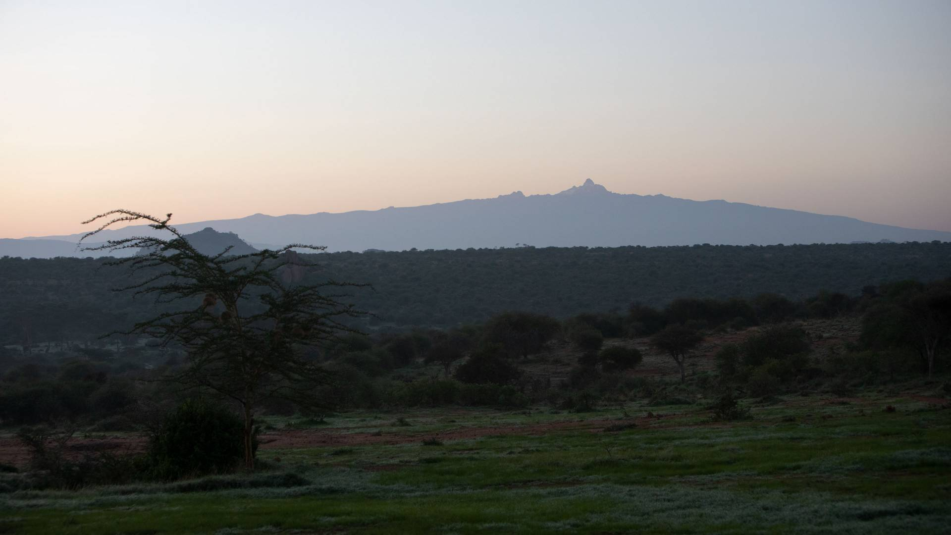 Sunrise with Mt. Mukenya in the distance