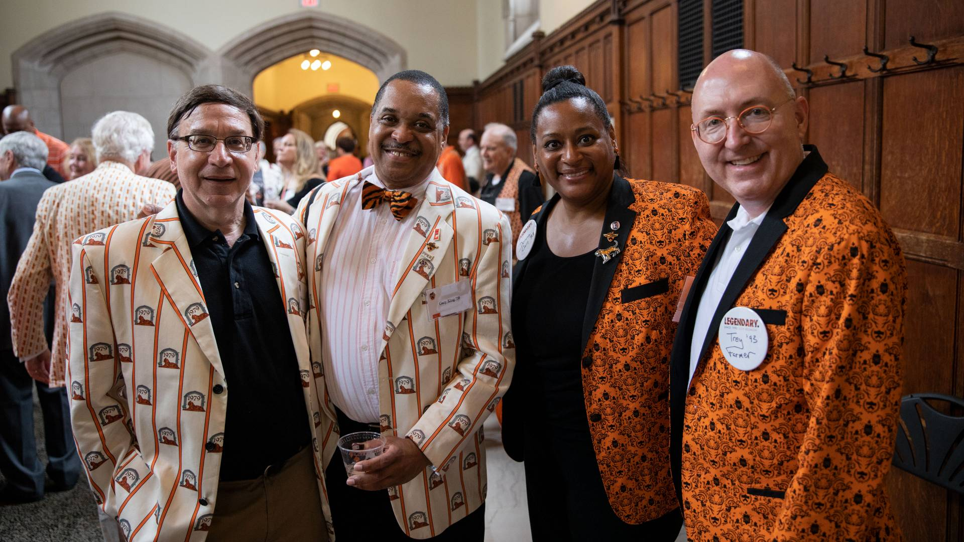 Rick Curtis '79, Gary King '79, Donna Cain '93, Trey Farmer '93