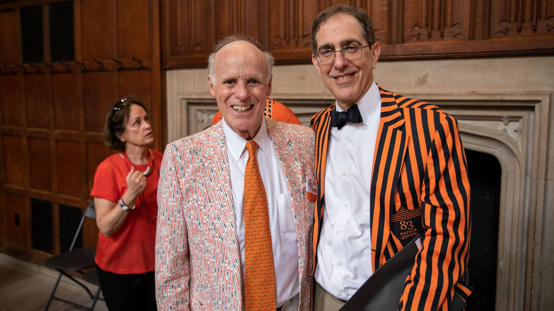 Bill Harman '63 and Christopher L. Eisgruber '83