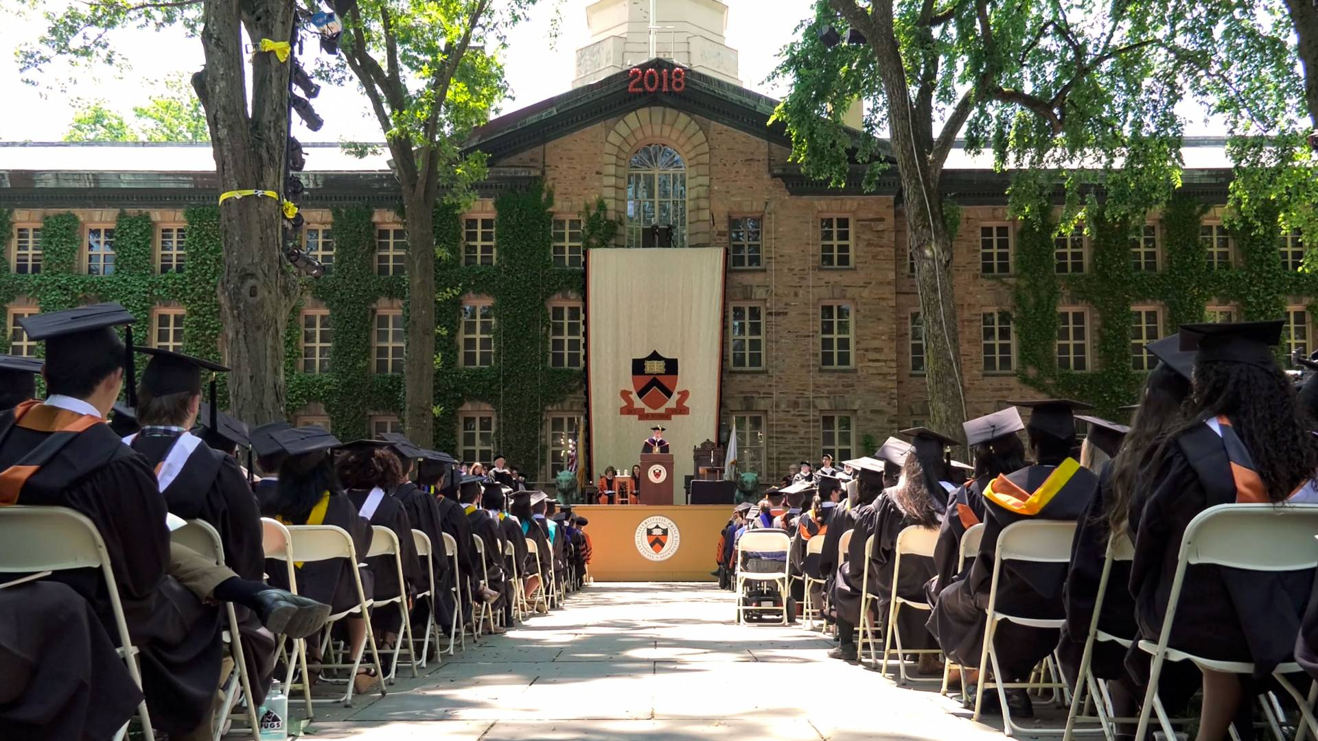 Commencement ceremony in front of Nassau Hall