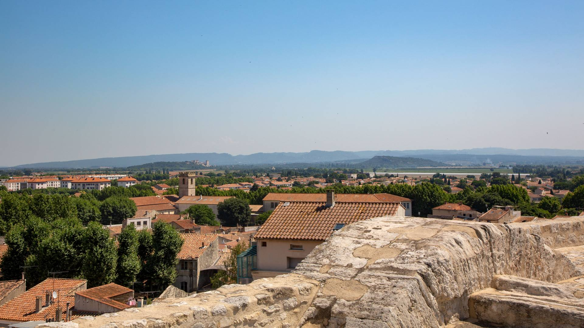 View of Arles, France from amphitheater