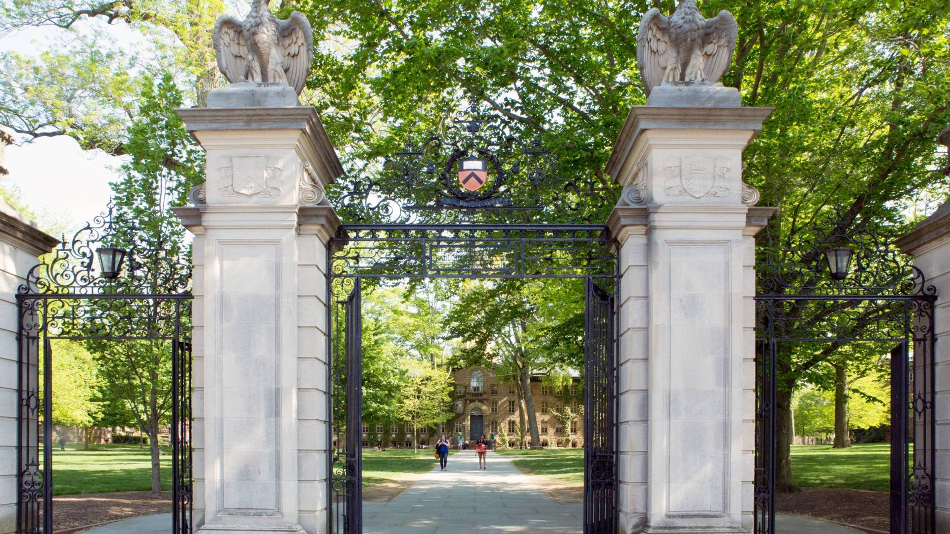 FitzRandolph Gates looking towards Nassau Hall