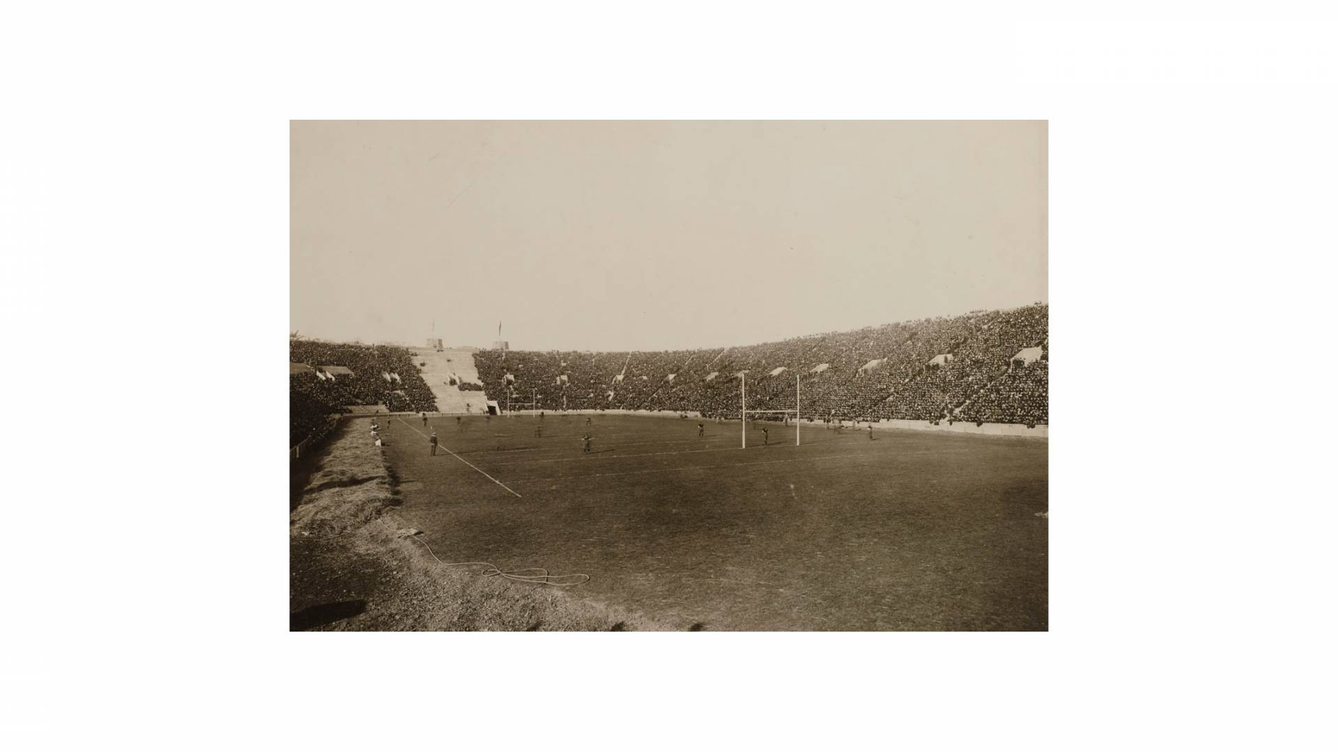archival photo of football field
