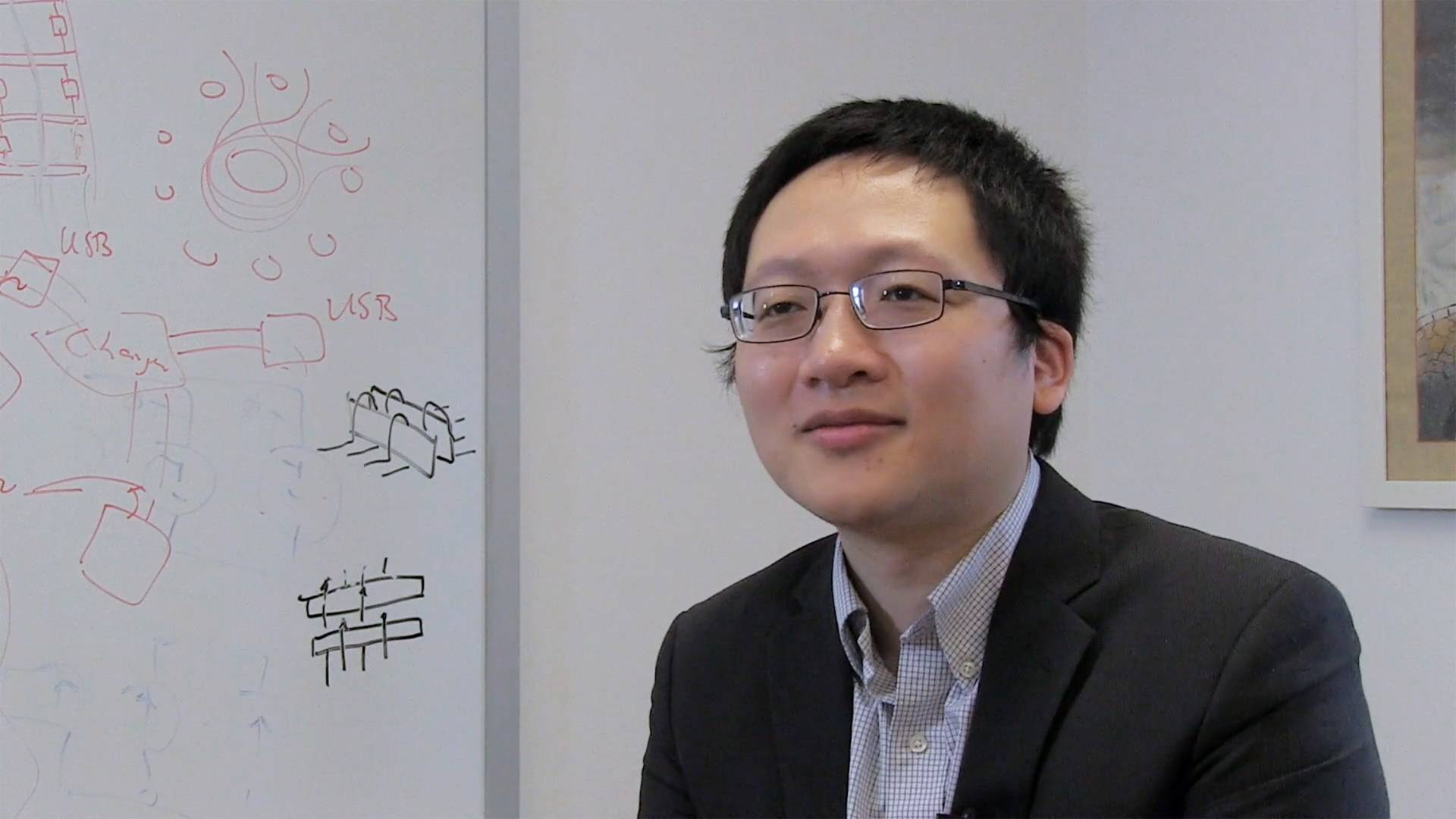 Minjie Chen discusses his research