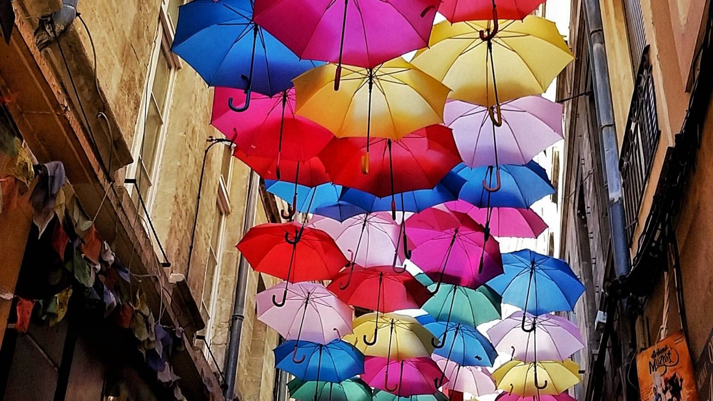 umbrella's in France