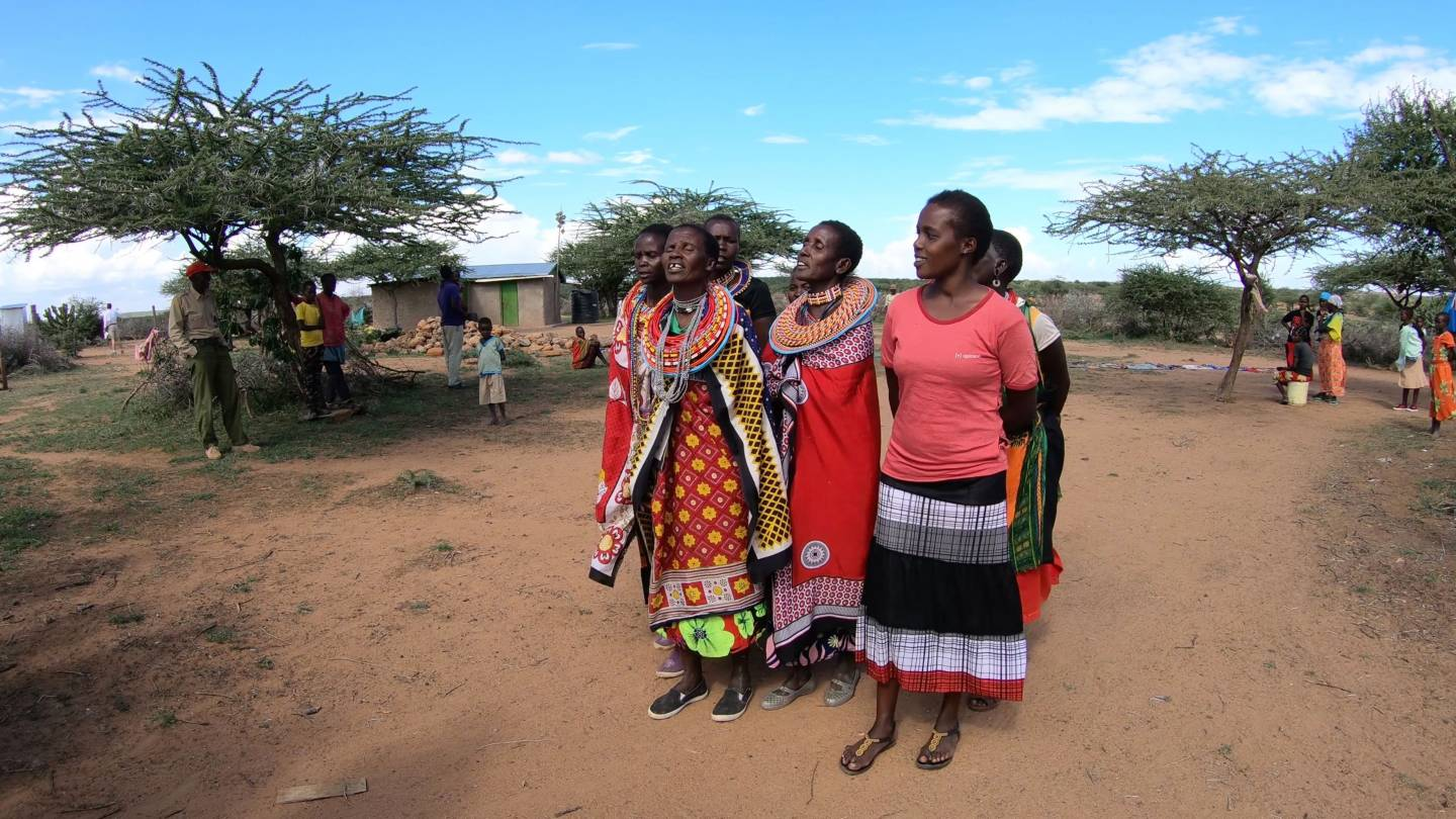 Villagers dancing at Mpala
