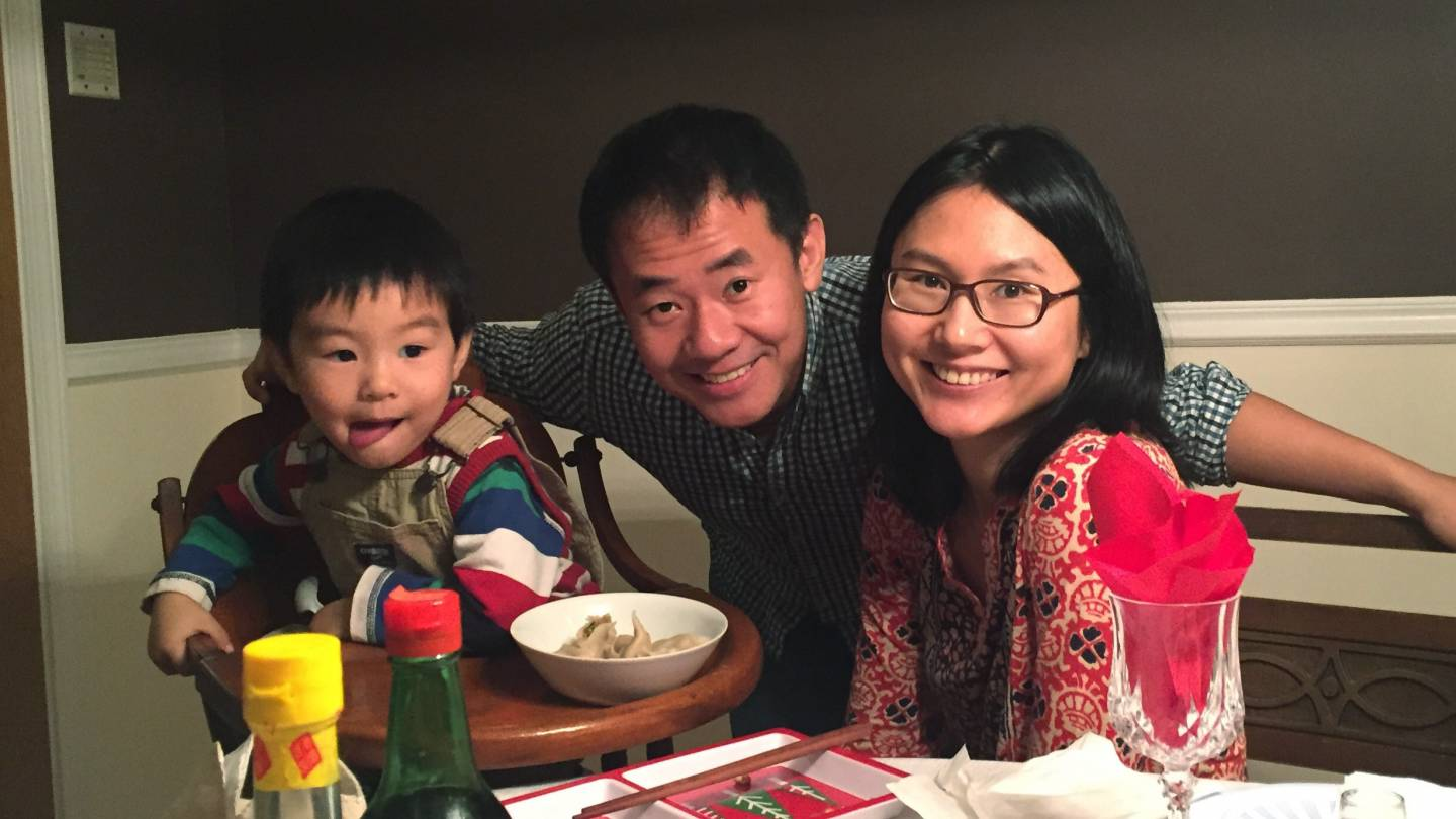 Xiyue Wang and family