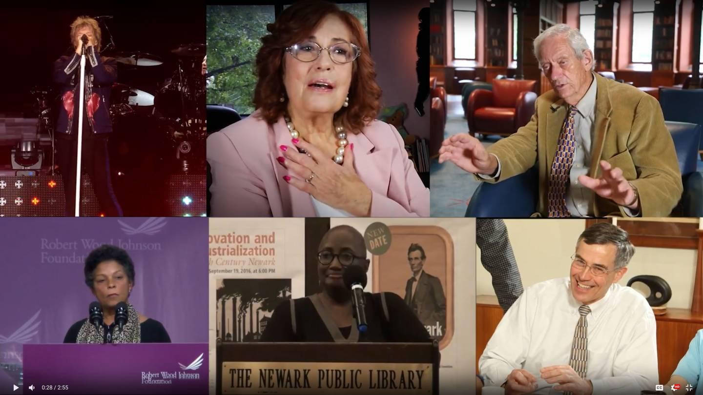Jon Bon Jovi, Constance Mercer Myers, John Fleming, Risa Juanita Lavizzo-Mourey, Linda Caldwell Epps, and Rush Holt