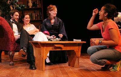 Members of the cast rehearse a scene with director Lileana Blain-Cruz