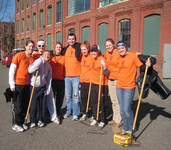 Student-athlete service project at Isles