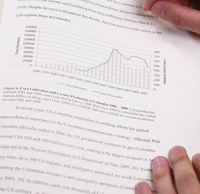 Image of charts and text from thesis