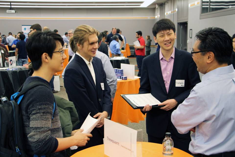 Students discuss career development at Hire Tigers