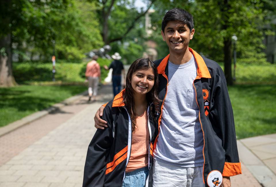 Shohini Rakhit '18 arm in arm with brother Shayan Rakhit from Class of 2014