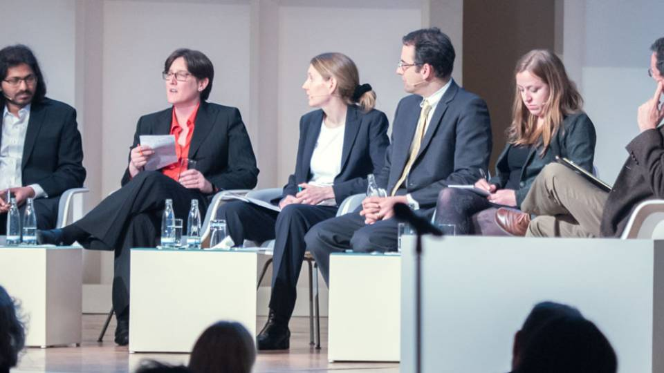 Princeton's Prateek Mittal and Jennifer Rexford in panel at the Princeton-Fung Global Forum in Berlin