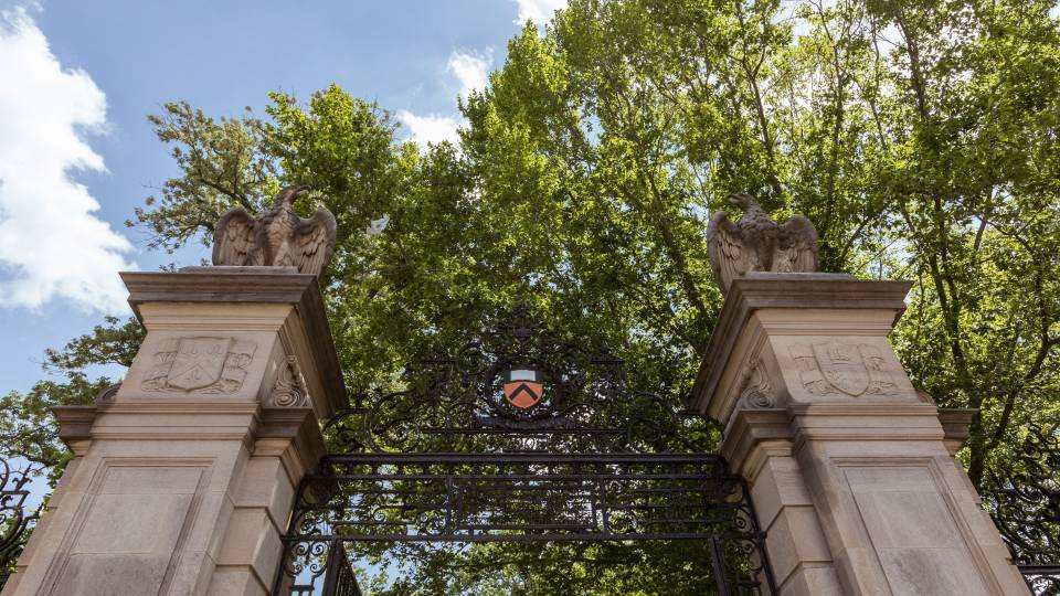 Top of FitzRandolph Gate
