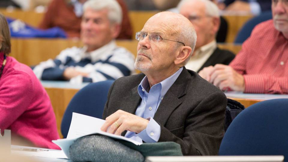 Philip Pettit listening to lecture