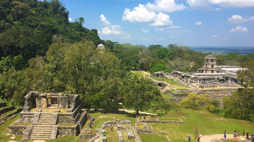 Vista of Palenque, Chiapas, Mexico