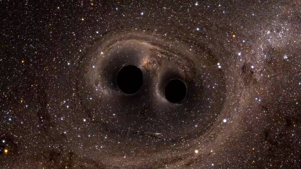 Two Black Holes Merging Into One