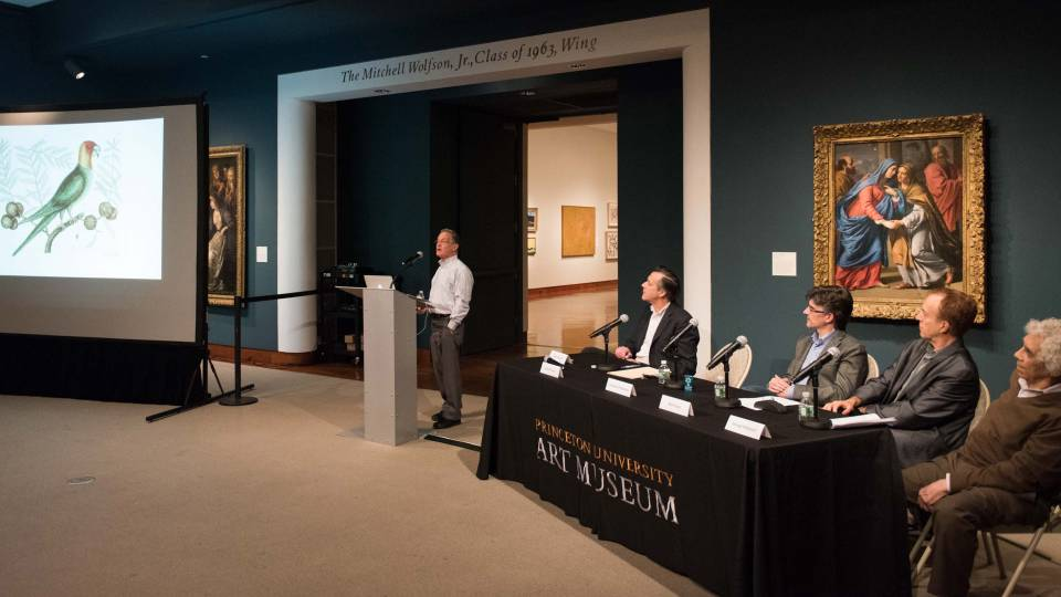 Panel discussion in the Princeton University Museum