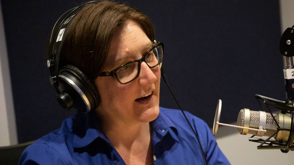 Jennifer Rexford '91 recording podcast