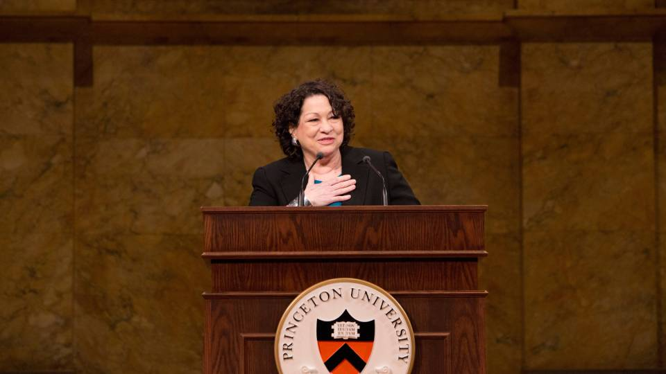 Supreme Court judge Sonia Sotomayor speaks at at Princeton in 2014