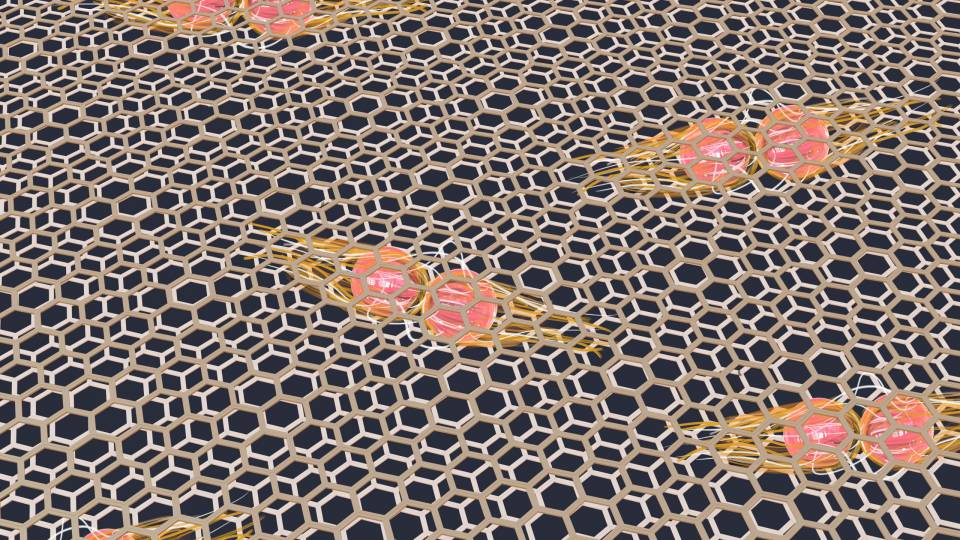 Depiction of graphene
