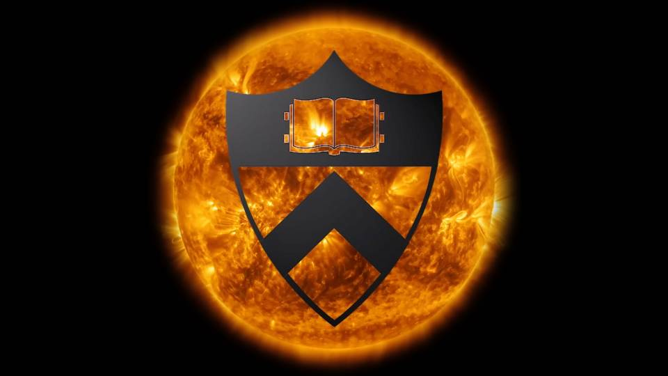 Princeton shield overlaid on sun