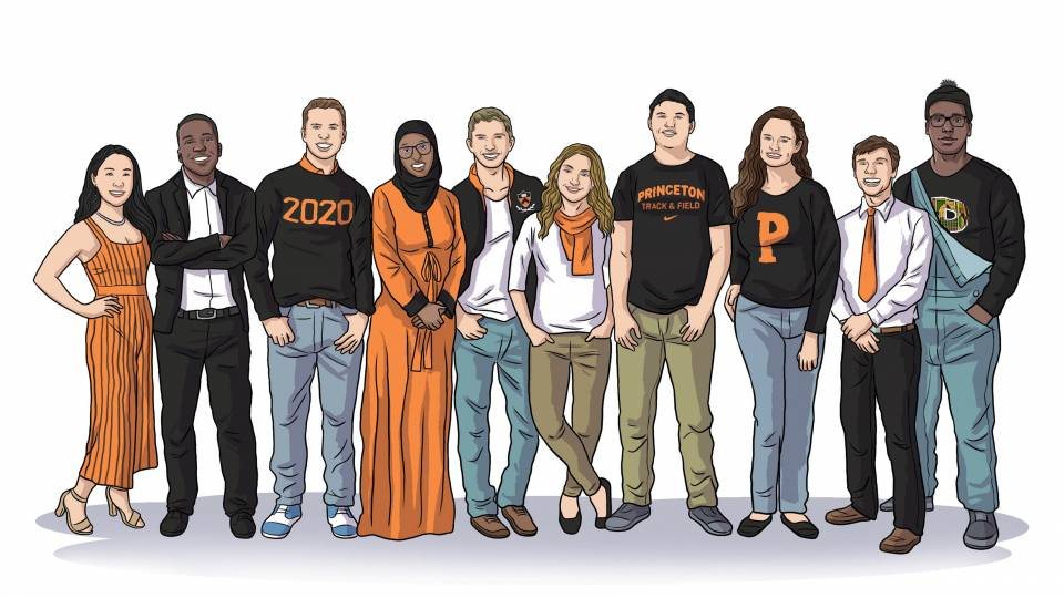 Illustration of the Spirit of Princeton award winners