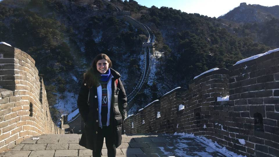 Naomi Cohen-Shields at the Great Wall of China
