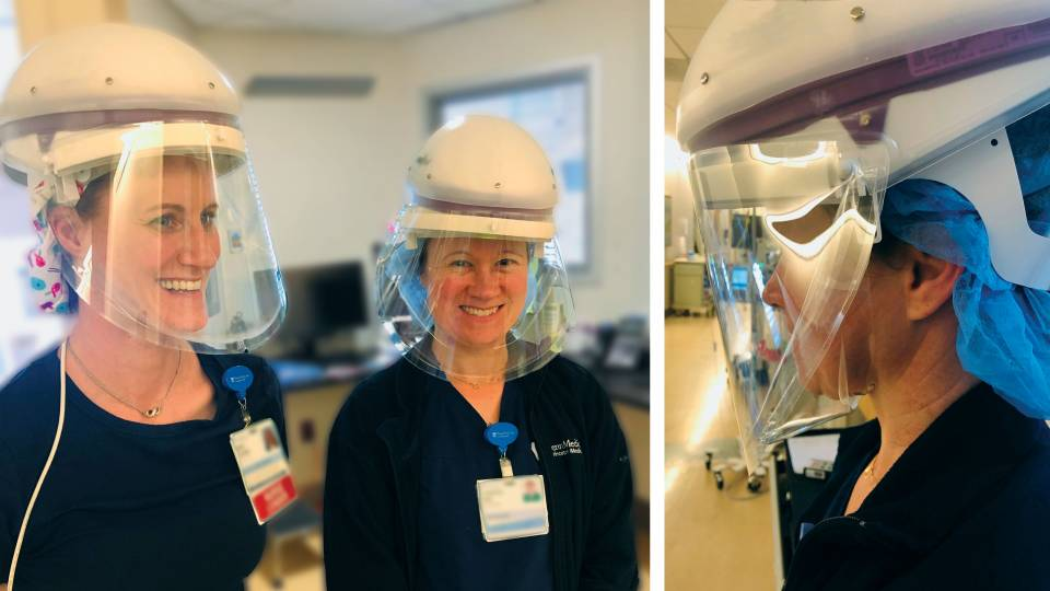 Nurses wear innovative PPE