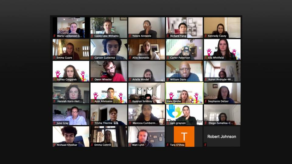 Screenshot of  a zoom class meeting