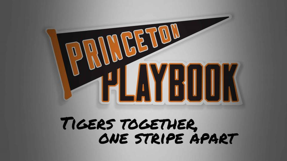 Princeton Playbook logo with Princeton on pennant
