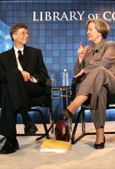 Bill Gates and Shirley Tilghman