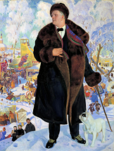 Kustodiev: Portrait of Fyodor