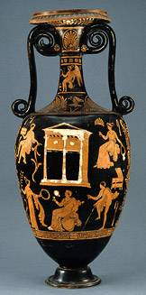 Red figure loutrophoros
