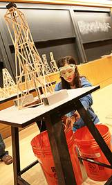 Testing towers at the Science Olympiad