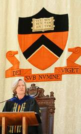 Shirley Tilghman addresses the class of 2008