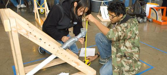 Readying the catapult