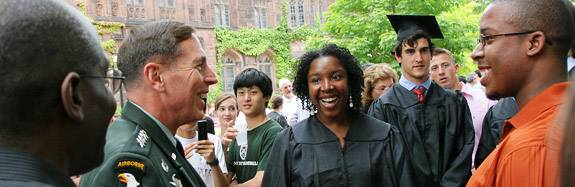 Petraeus with students