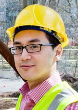 Liew on site in hardhat